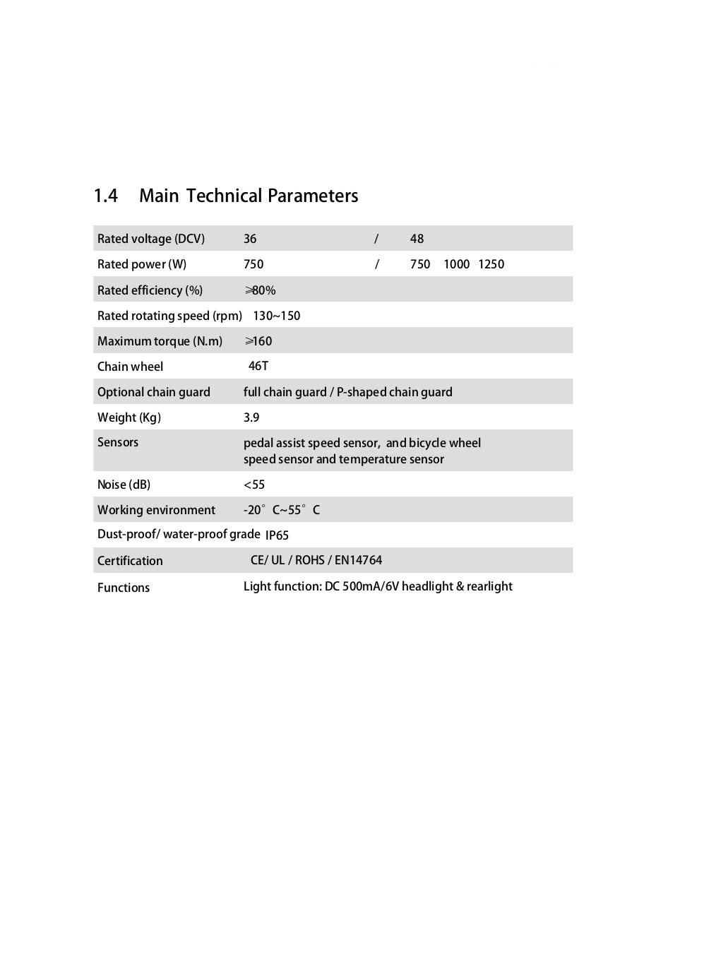 BBSHD 1000W Manual
